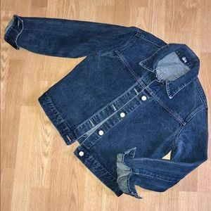 Stussy Blue Denim Collared Jean Jacket Retro